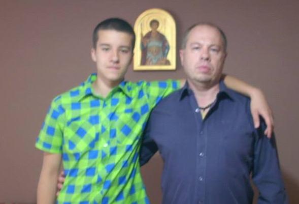 Vojislav Jovičić sa sinom Lazarom