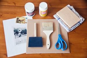 Potrebni materijali za preslikavanje fotografije na drvo